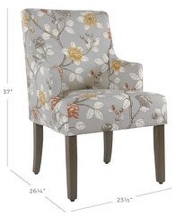 HomePop Meredith Dining Chair - Dove Floral