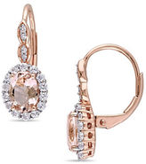 Concerto Diamond-Accent Vintage 14K Rose Gold Earrings