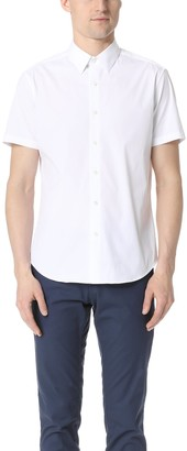 Theory Men's Sylvain Short Sleeve Button Down Shirt