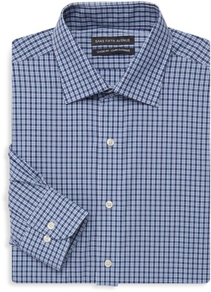 Saks Fifth Avenue Classic-Fit Check Dress Shirt