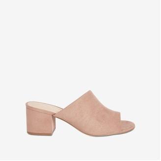 Joe Fresh Women's Block Heel Mules, Taupe (Size 6)