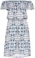 L'Agence Off-The-Shoulder Printed Silk Crepe De Chine Dress