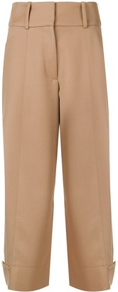 See by Chloe Wide Leg Cropped Trousers