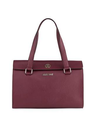Roberto Cavalli Top Handle Leather Satchel Bag