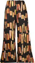 Pleats Please Issey Miyake geometric-print pleated trousers