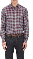 Ermenegildo Zegna Men's Gingham Cotton Shirt-GREY