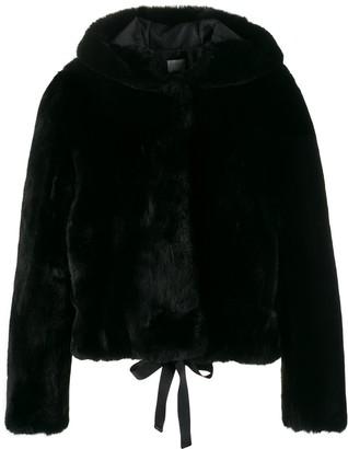 Sandro Faux-Fur Hooded Jacket