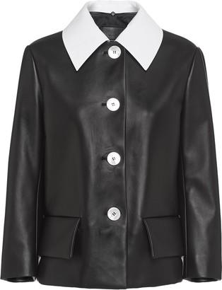 Prada Detachable Contrasting Collar Jacket