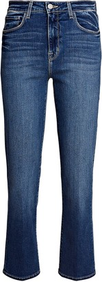L'Agence Nadia Cropped High-Rise Jeans