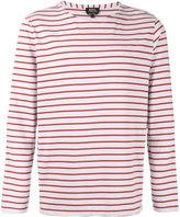 A.P.C. Breton stripe sweatshirt - men - Organic Cotton - M