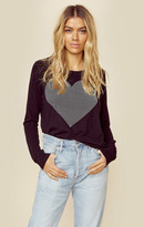 Sundry heart studs crop pullover