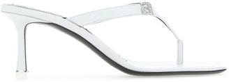 Alexander Wang Ivy Logo Thong Sandals