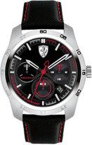 Ferrari Men's Chronograph Primato 70th Anniversary Black Nylon Canvas Strap Watch 44mm