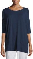 Eileen Fisher 3/4-Sleeve Boxy Tunic, Plus Size