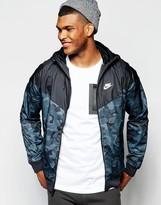 Nike Badlands Camo Windbreaker In Black 823369-010