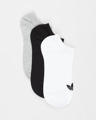 adidas Black No Show Socks - Trefoil Liner Socks 3-Pack - Size 6-8.5 at The Iconic