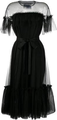 Viktor & Rolf Martini ruffled tulle dress