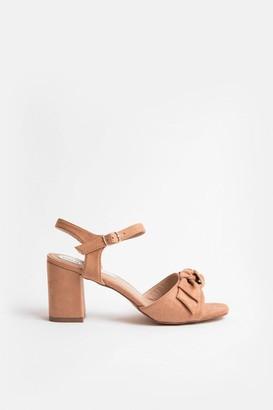 Coast Bow Strap Block Heel Sandal