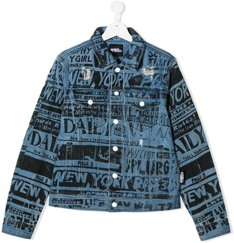 Jeremy Scott Junior TEEN slogan bomber jacket