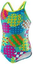 Speedo Big Girls' 1-piece Swimsuit-Happy Flowers