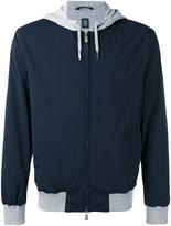 Eleventy contrast hooded jacket - men - Cotton/Cupro/Polyamide/Spandex/Elastane - L