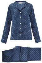 Derek Rose Brindisi Star-print Silk-charmeuse Pyjamas - Womens - Navy Print