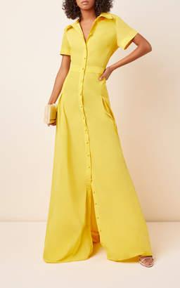 Alexis Felicity Button-Front Collared Maxi Dress