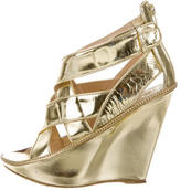 Givenchy Metallic Wedge Sandals