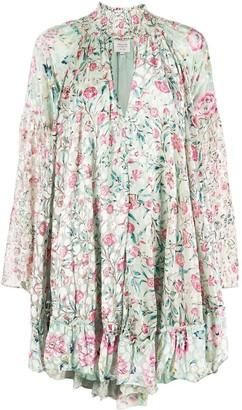 HEMANT AND NANDITA floral print shift dress