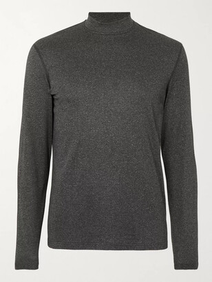 Reigning Champ Slim-Fit Melange Polartec Power Wool Mock-Neck T-Shirt