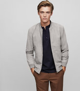 Reiss New Collection Basse Suede Bomber Jacket