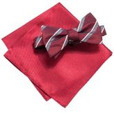 Alfani Red Bow Tie & Solid Pocket Square Set, Created for Macy's
