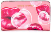 Marc Jacobs printed lips continental wallet