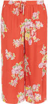 Joie Nazario Coral Rose Silk Cropped Trousers