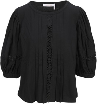 See By Chloe Embroidered Balloon Sleeve Blouse