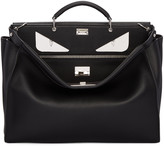 Fendi Black Eyes Peekaboo Tote
