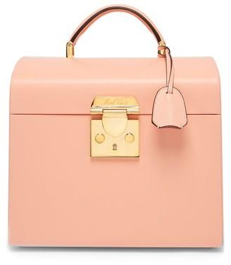 Mark Cross Sara Leather Beauty Case - Womens - Light Pink