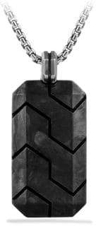 David Yurman Forged Carbon Black Diamonds and Sterling Silver Tag