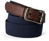 Lands' End Men's Big Elastic Surcingle Belt-Navy