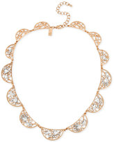 INC International Concepts Rose Gold-Tone Multi-Crystal Openwork Collar Necklace, Only at Macy's