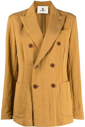 Barena Double-Breasted Cotton Blazer