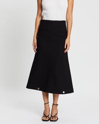 PARIS GEORGIA Everyday Skirt with Eyelets