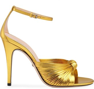 Gucci Metallic 105mm Sandals