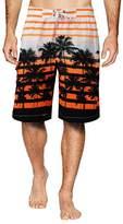 APTRO Men's Coconut Tree Printing Beach Board Shorts Green S