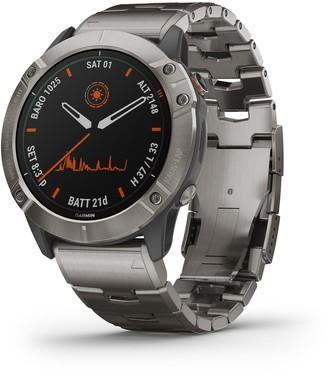 Garmin fenix 6X Pro Solar Titanium Smartwatch with Vented Titanium Bracelet
