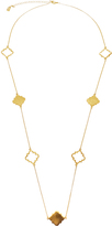 Twos Company Two's Company Long Clover Necklace