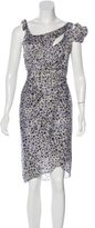 Zac Posen Silk Abstract Print Dress