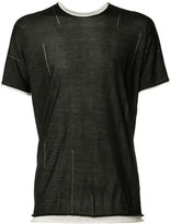 Label Under Construction layered T-shirt - men - Silk - S