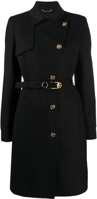 Versace Medusa safety pin button-up coat