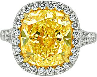 Diana M Fine Jewelry Platinum 9.25 Ct. Tw. Diamond Ring